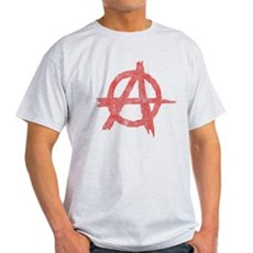 Vintage Anarachy Symbol Light T-Shirt