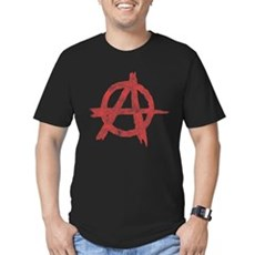 Vintage Anarachy Symbol Mens Fitted Dark T-Shirt