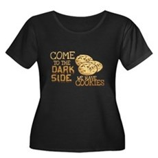 Come To The Dark Side Womens Plus Size Scoop Neck