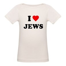 I Love Jews Organic Baby T-Shirt