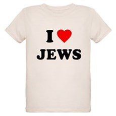 I Love Jews Organic Kids T-Shirt