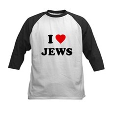 I Love Jews Kids Baseball Jersey