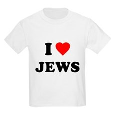 I Love Jews Kids Light T-Shirt