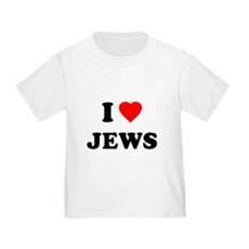 I Love Jews Toddler T-Shirt