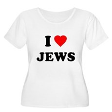 I Love Jews Plus Size Scoop Neck Shirt