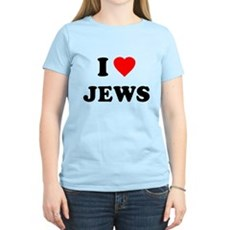 I Love Jews Womens Light T-Shirt