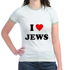 I Love Jews Jr Ringer T-Shirt