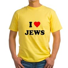 I Love Jews Yellow T-Shirt