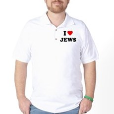 I Love Jews Golf Shirt