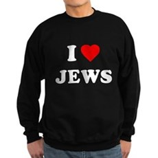 I Love Jews Dark Sweatshirt