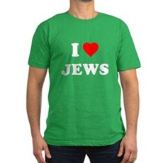 I Love Jews Mens Fitted Dark T-Shirt