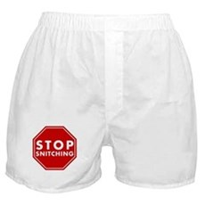 Stop Snitching Boxer Shorts