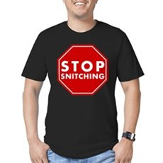 Stop Snitching Mens Fitted Dark T-Shirt