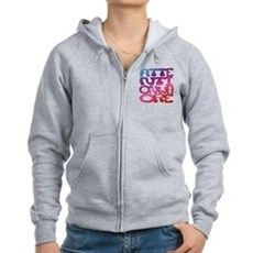 Attention Whore Womens Zip Hoodie