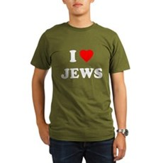 I Love Jews Organic Mens Dark T-Shirt