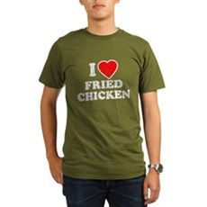 I Love [Heart] Fried Chicken Organic Mens T-Shirt