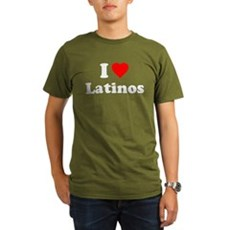 I Love [Heart] Latinos Organic Mens Dark T-Shirt