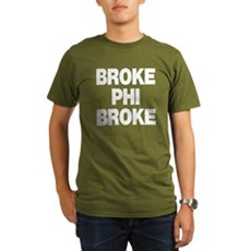 Broke Phi Broke Organic Mens Dark T-Shirt