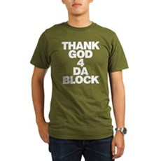 Thank God 4 Da Block Organic Mens Dark T-Shirt