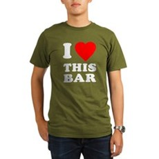 I Love This Bar Organic Mens Dark T-Shirt