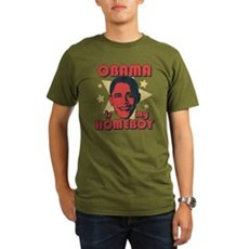 Obama is my Homeboy Organic Mens Dark T-Shirt