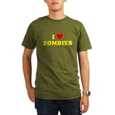 I Love [Heart] Zombies Organic Mens Dark T-Shirt
