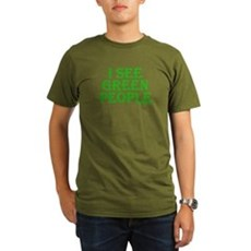 I see green people Organic Mens Dark T-Shirt