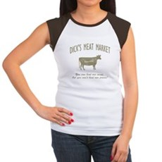 Dick's Meat Market Womens Cap Sleeve T-Shirt