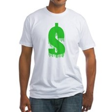 Recession Sucks Fitted T-Shirt