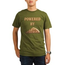 Powered By Pizza Organic Mens Dark T-Shirt