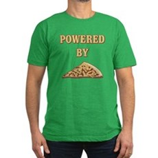 Powered By Pizza Mens Fitted Dark T-Shirt