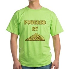 Powered By Pizza Green T-Shirt
