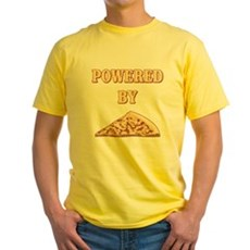 Powered By Pizza Yellow T-Shirt