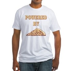 Powered By Pizza Fitted T-Shirt