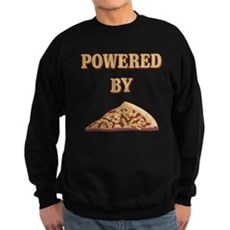 Powered By Pizza Dark Sweatshirt