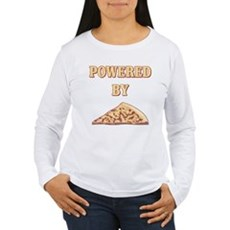 Powered By Pizza Womens Long Sleeve T-Shirt