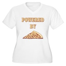 Powered By Pizza Plus Size V-Neck Shirt