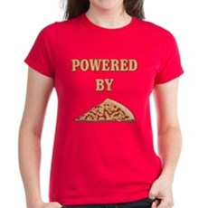 Powered By Pizza Womens T-Shirt