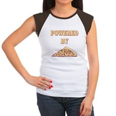 Powered By Pizza Womens Cap Sleeve T-Shirt