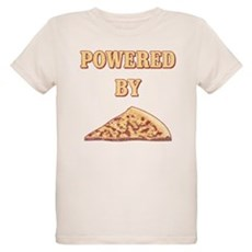 Powered By Pizza Organic Kids T-Shirt