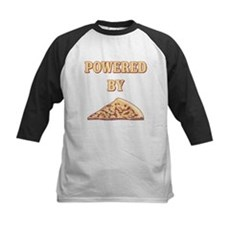Powered By Pizza Kids Baseball Jersey
