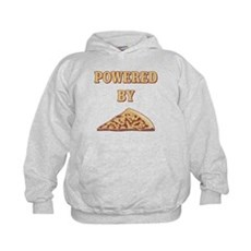 Powered By Pizza Kids Hoodie