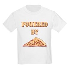 Powered By Pizza Kids Light T-Shirt