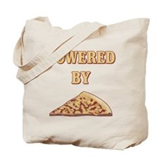 Powered By Pizza Tote Bag