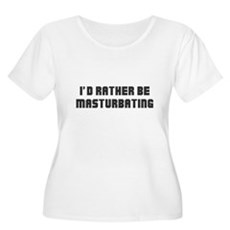 I'd Rather Be Masturbating Womens Plus Size Scoop