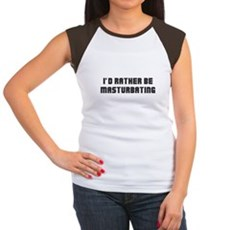I'd Rather Be Masturbating Womens Cap Sleeve T-Sh