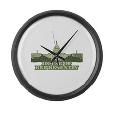 House of Representin' Large Wall Clock