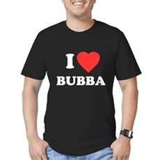 I Love Bubba Mens Fitted Dark T-Shirt