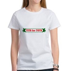 Tits for Tots Womens T-Shirt