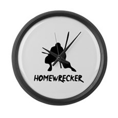 Home Wrecker Large Wall Clock